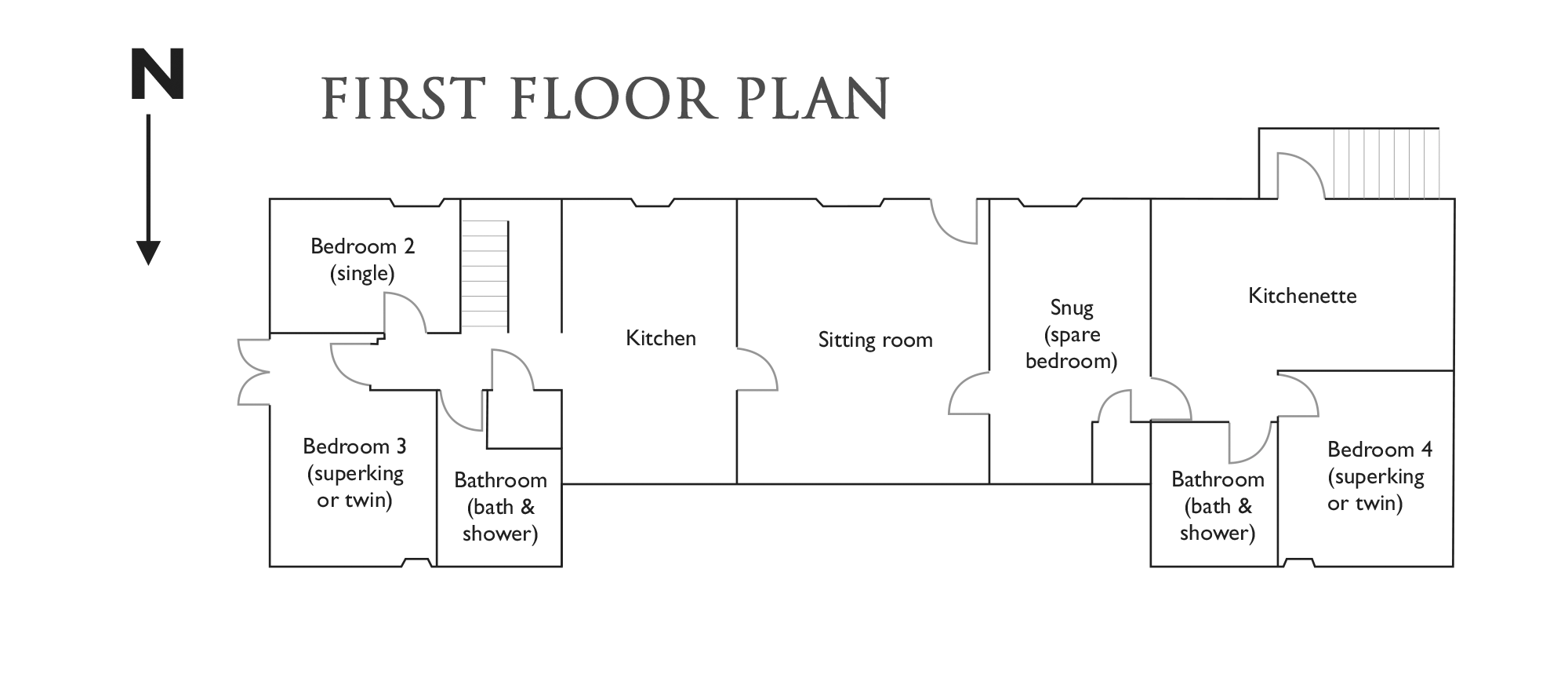 The Coach House First Floor Plan