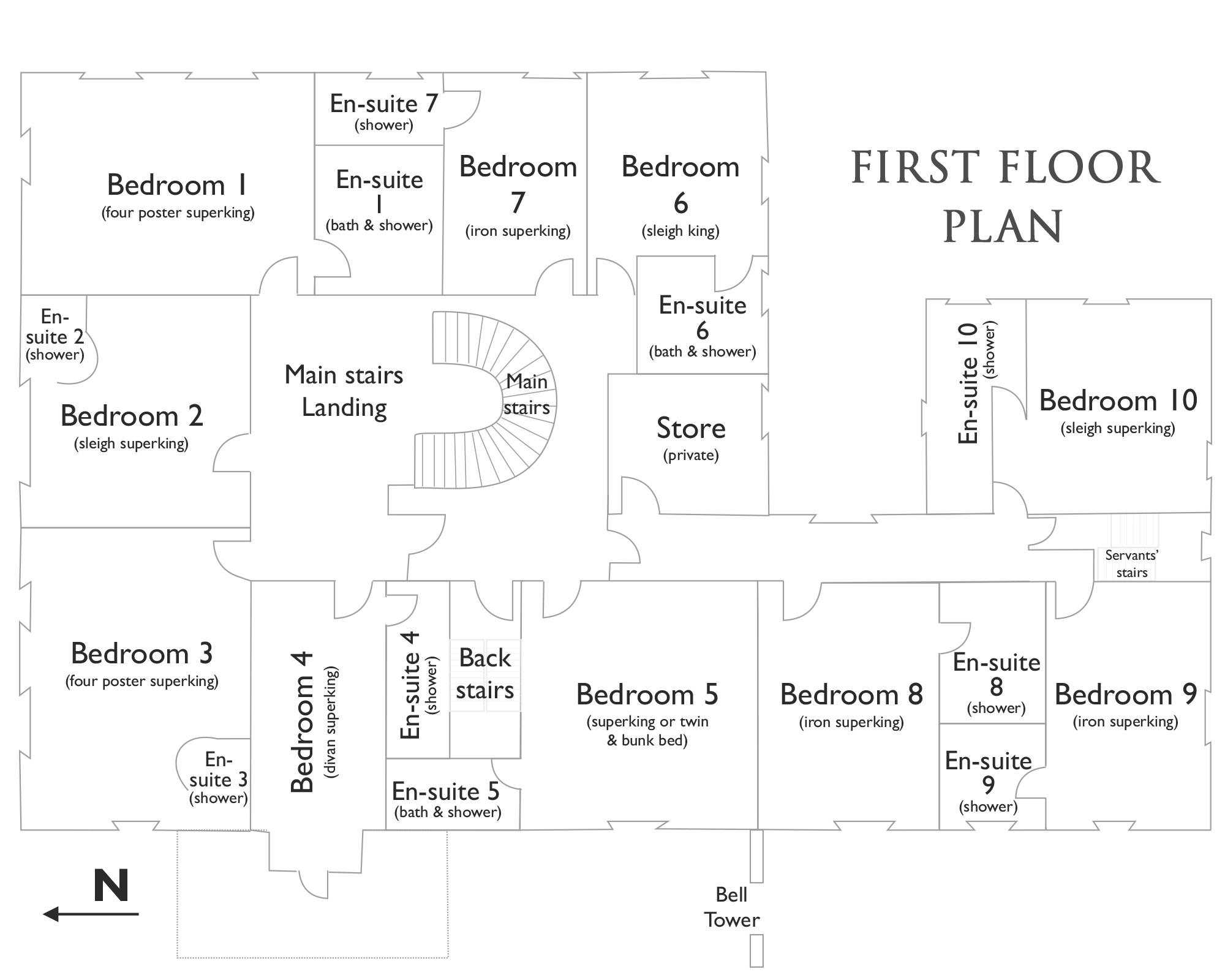Hallsannery House First Floor Plan