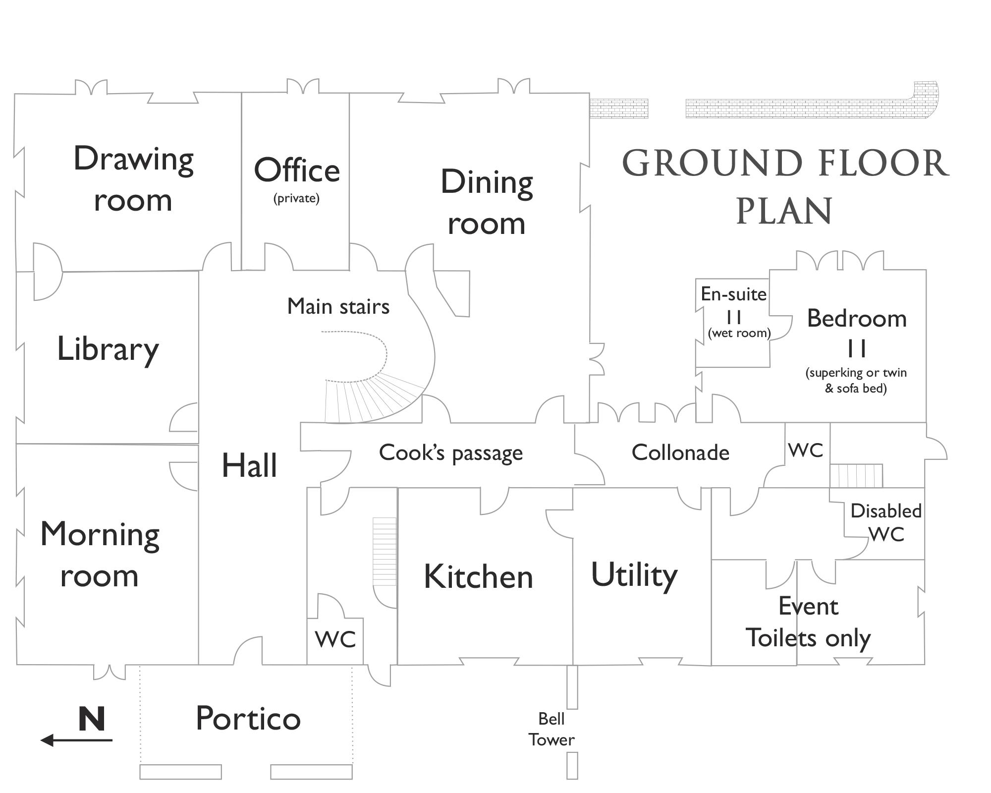 Hallsannery House Ground Floor Plan